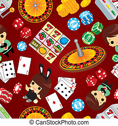 mönster, kasino, seamless
