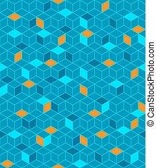 mönster, kuben, seamless