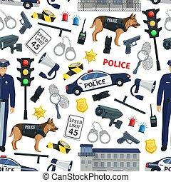 mönster, lag, polis, seamless, brott