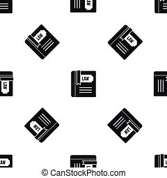 mönster, lag, svart, bok, seamless