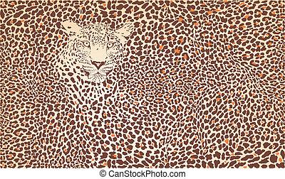 mönster, leopard, bakgrund