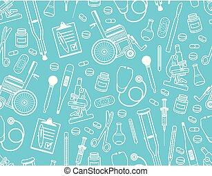 mönster, medicinsk, seamless