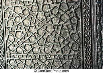 mönster, metall, yta, struktur, bakgrund