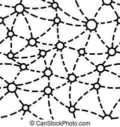 mönster, neuron, seamless