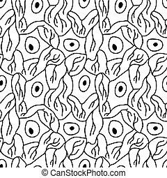 mönster, neurons, seamless