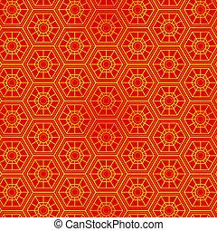 mönster, orientalisk, seamless