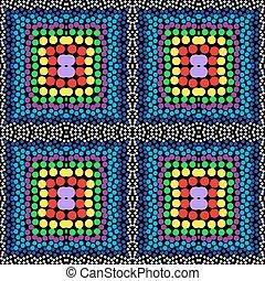 mönster, pärlhalsband, vektor, seamless, bakgrund