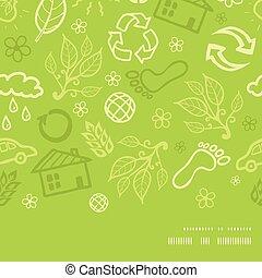 mönster, ram, seamless, miljöbetingad, vektor, bakgrund, horisontal