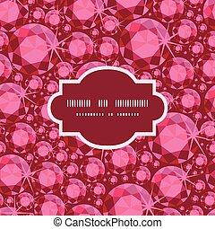 mönster, ram, seamless, vektor, bakgrund, rubin