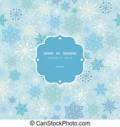 mönster, ram, snö, seamless, vektor, bakgrund, stjärnfall