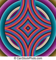 mönster, retro, abstrakt, seamless, tapet