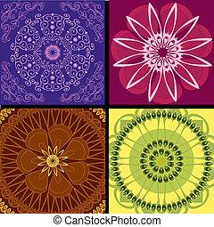 mönster, sätta, arabesk, bakgrund