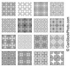 mönster, sätta, seamless