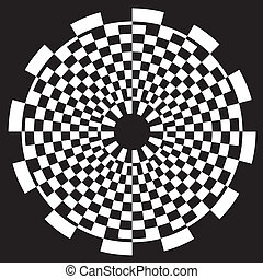 mönster, schackbräde, design, spiral