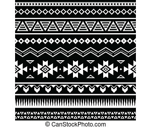 mönster, seamless, aztekisk