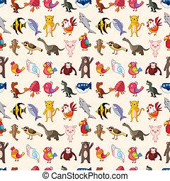 mönster, seamless, djur
