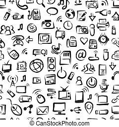 mönster, seamless, enheter, den, design, din