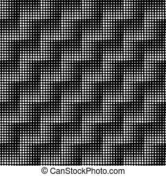 mönster, seamless, halftone, zig, vektor, zag