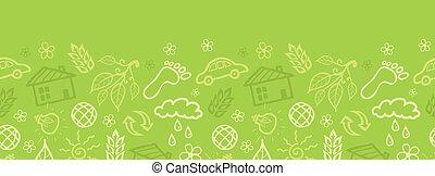 mönster, seamless, miljöbetingad, bakgrund, horisontal, gräns