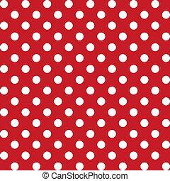 mönster, seamless, pricken, stor, polka