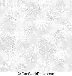 mönster, seamless, snöflinga