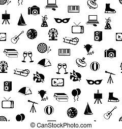 mönster, seamless, underhållning