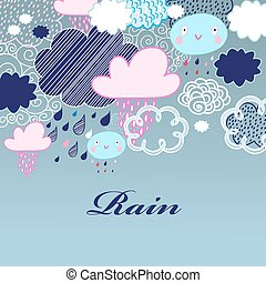 mönster, skyn, regna
