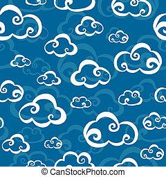 mönster, skyn, seamless
