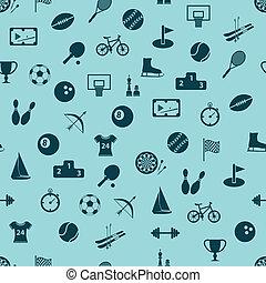 mönster, sport, seamless