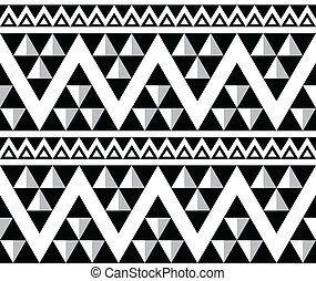 mönster, stam, abstrakt, aztekisk