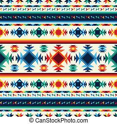mönster, stam, seamless, aztekisk, bakgrund., geometrisk, ...