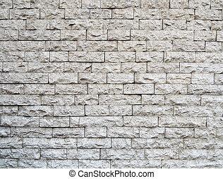 mönster, sten, tegelsten, återuppstå, nymodig, vägg, vit