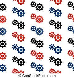 mönster, symbol, seamless, inställningar