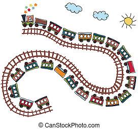mönster, tåg