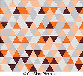 mönster, tegelpanna, vektor, lägenhet, triangel