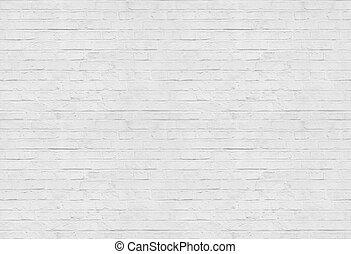 mönster, tegelsten, bakgrund, seamless, vägg, vit