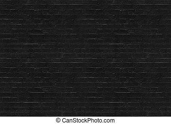 mönster, tegelsten, svart, seamless, vägg