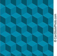 mönster, tilable, kub, isometric, seamless