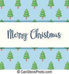 mönster, träd, jul, munter