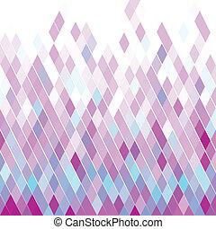 mönster, triangel, violett