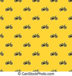 mönster, vektor, cykel