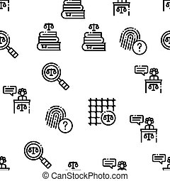 mönster, vektor, seamless, lag, dom