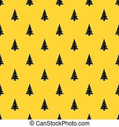 mönster, vektor, träd, jul