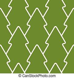 mönster, vektor, träd, jul, seamless