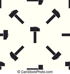 mönster, verktyg, isolerat, illustration, grå, bakgrund., hammare, vektor, seamless, vit, repair., ikon
