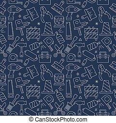mönster, verktyg, sätta, fodra, ikon