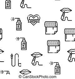 mönster, verktyg, seamless, studio, vektor, tatuera