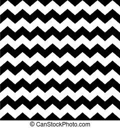 mönster, vit, svart, zag, zig