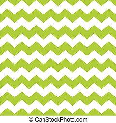 mönster, zig, vektor, grön, zag, tegelpanna