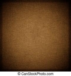 mörk, brun, årgång, vävnad, bakgrund